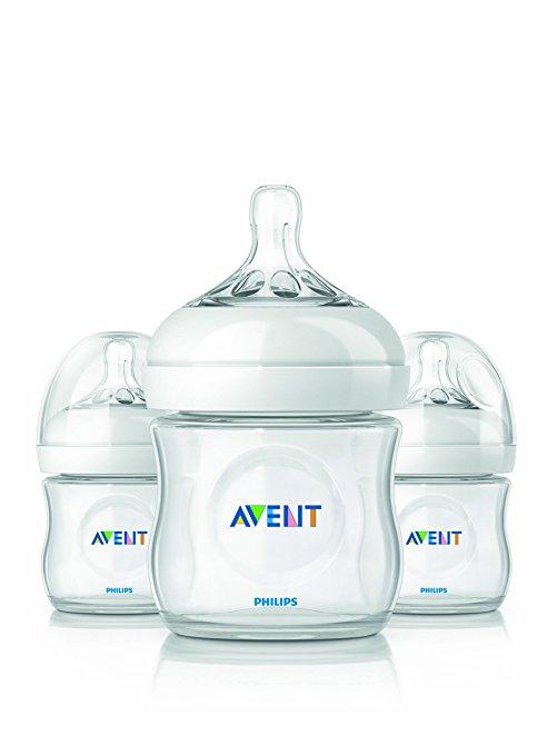 ขวดนม 4oz รุ่นใหม่ล่าสุด นวัตกรรมใหม่ของ PHILIPS AVENT NATURAL FEEDING BOTTLEPACK 3 X 125ml / 4oz SCF690/37 (Polypropylene , BPA-free)