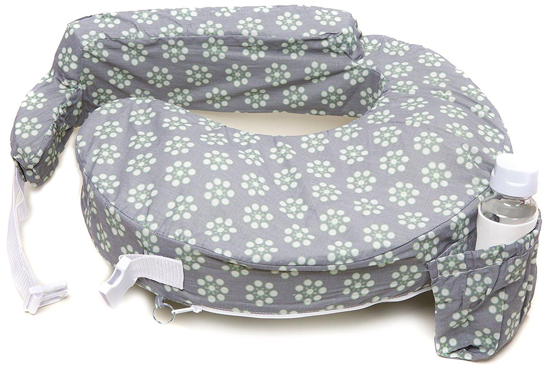 หมอนรองให้นม My Brest Friend Nursing Pillow รุ่น Original ลาย Daisies, Grey, Green