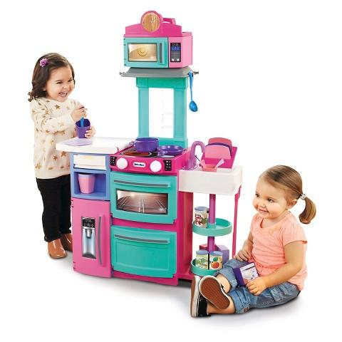 ชุดครัวขนาดกะทัดรัด Little Tikes Cook 'n Store Kitchen สีชมพู