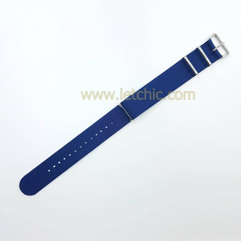 สายนาฬิกา ผ้านาโต้ สีน้ำเงิน
