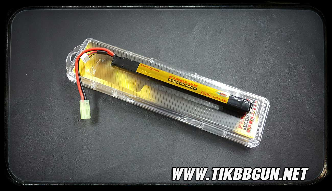 แบตเตอรี่แบบ Li-Po (ลิเธียมโพลิเมอร์) 20C 1200mah เหมาะสำหรับAK กับ MP5