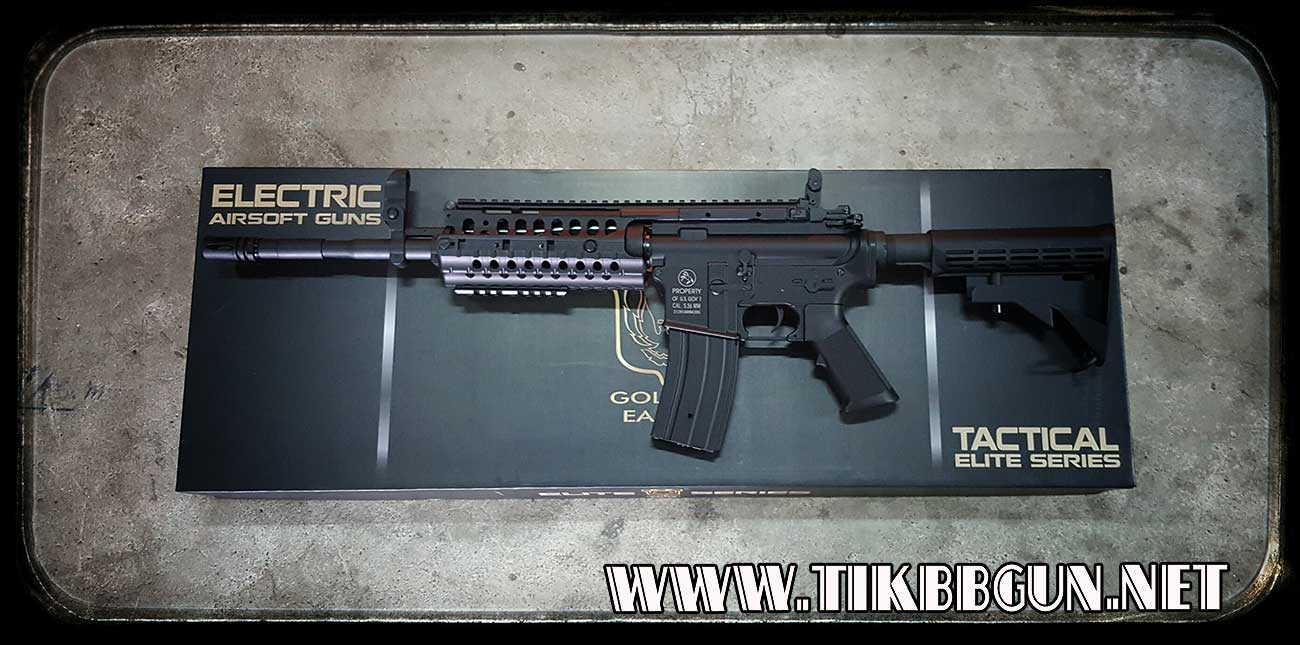 ปืนอัดลม ระบบไฟฟ้า รุ่น M4 S system บอดี้พลาสติกเฟืองเหล็ก