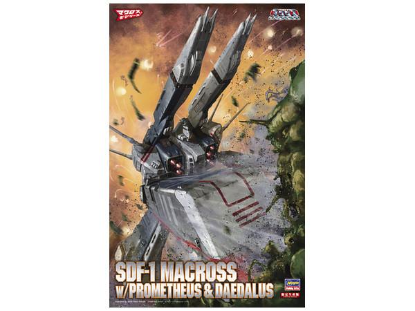 1/4000 SDF-1 Macross Forced Attack Type w/Prometheus & Daedalus by Hasegawa (Dis.)