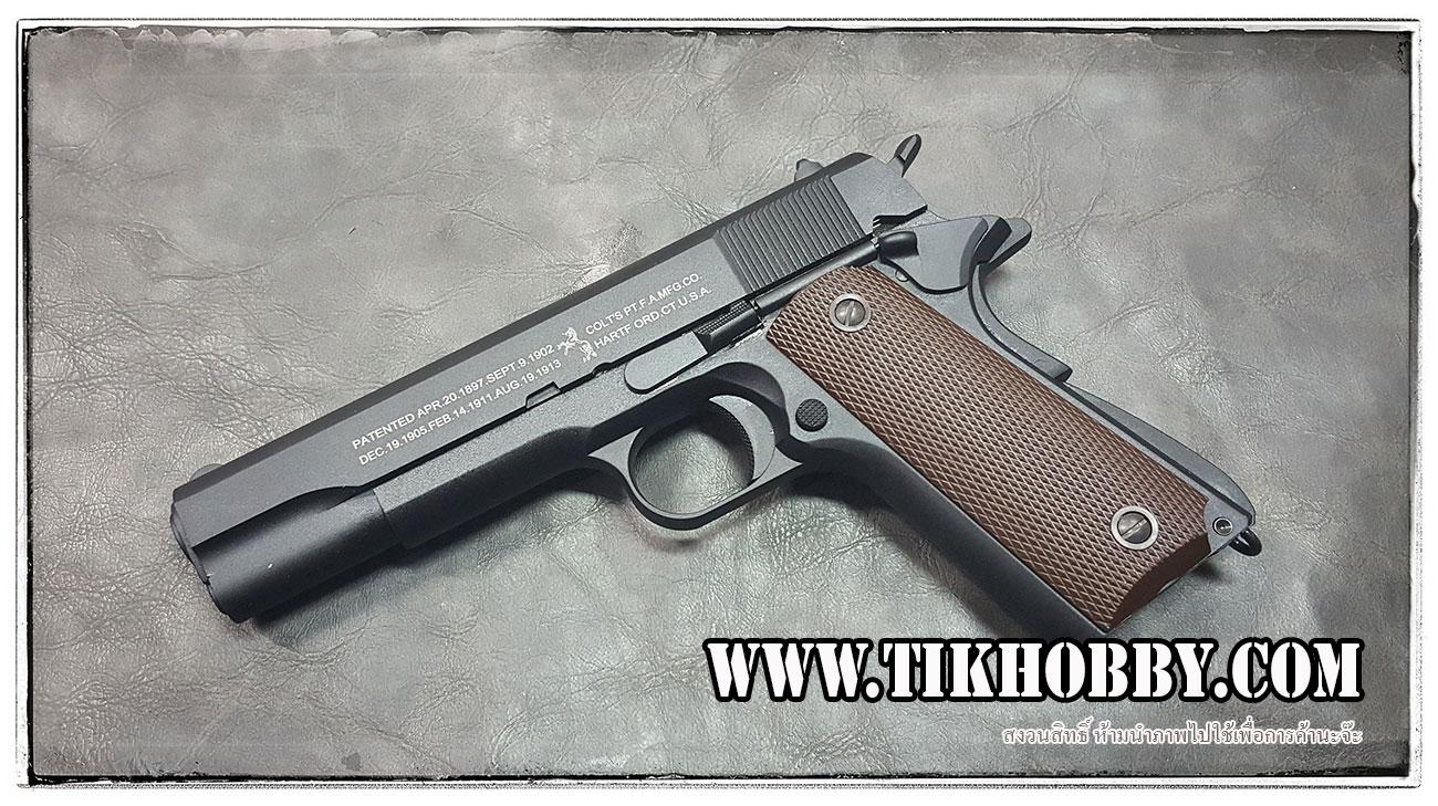 ปืนสั้นระบบแก๊สโบลว์แบล็ค รุ่น M1911 2ระบบ แก๊สและCo2 Kj work