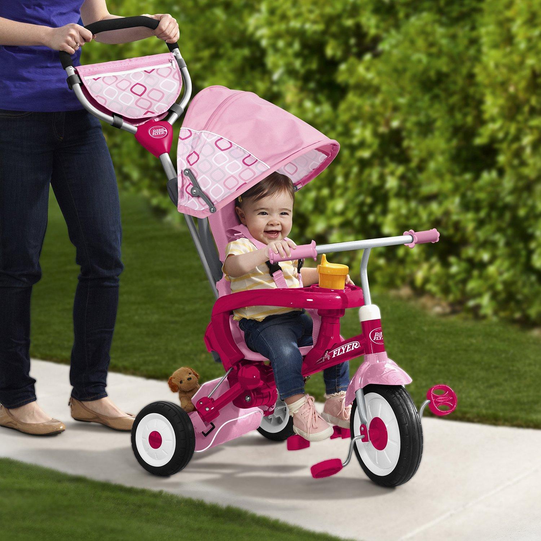 รถสามล้อ 4 in 1 แบรนด์ยอดฮิต Radio Flyer EZ Fold Stroll 'N Trike Ride On, Pink พับได้ ใช้ได้นานสุดแสนคุ้มค่า