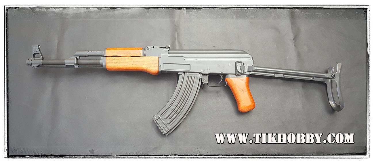 ปืนอัดลม ระบบไฟฟ้า AK47ท้ายพับ CM042S ไม้แท้ๆ จาก Cyma