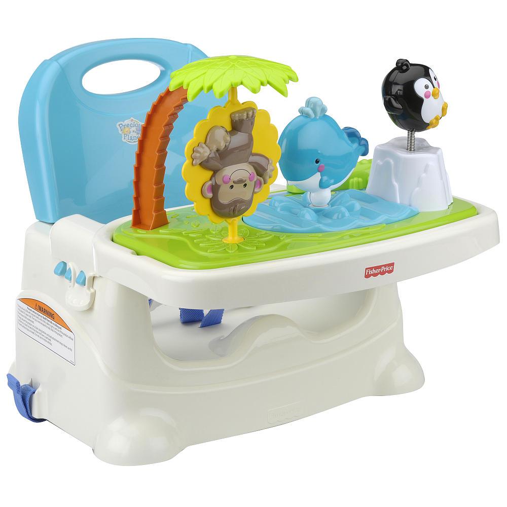 เก้าอี้เด็ก ขนาดพกพา มาพร้อมของเล่น Fisher-Price Precious Planet Healthy Care Booster