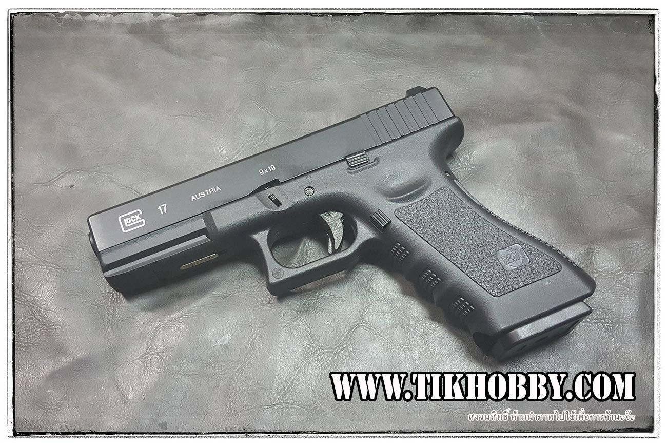 ปืนสั้นระบบแก๊สโบลว์แบล็ค รุ่นGlock17 แก๊ส PasaiDon