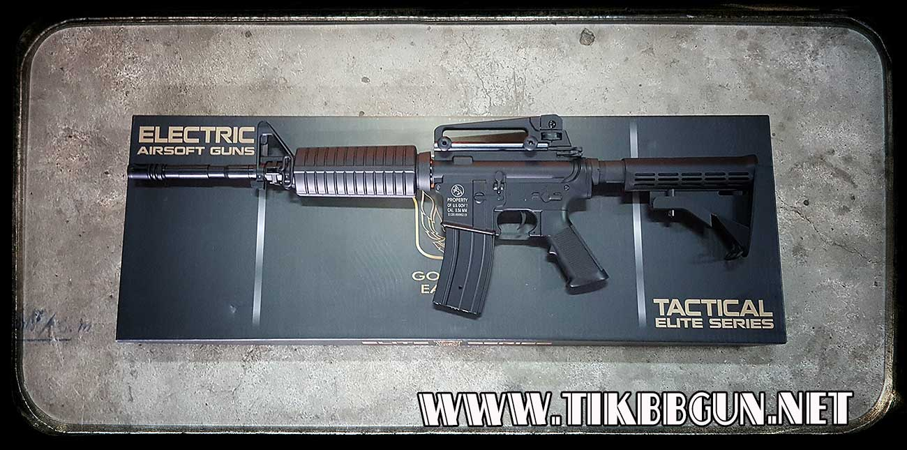 ปืนอัดลม รุ่น M4A1 จินกงบอดี้ ABS เกียร์บล็อคเหล็ก
