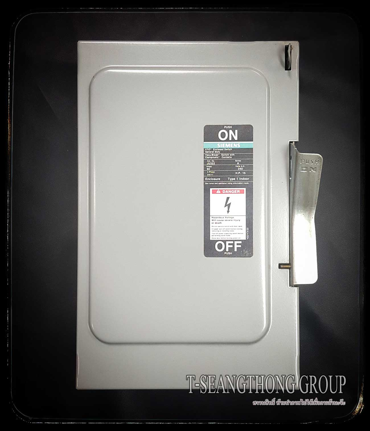เซฟตี้สวิทช์ Safety Switch Siemens JU321 2สาย 30 แอมป์ ไม่มีฟิวส์ รุ่นติดตั้งภายใน