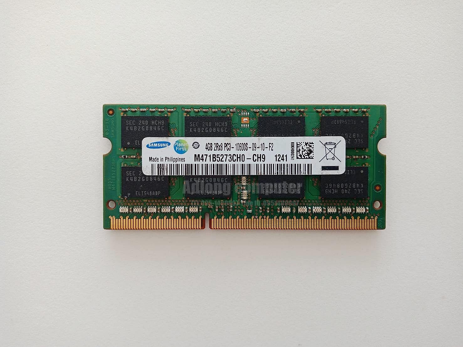แรมโน๊ตบุ๊ค DDR3/4GB บัส 1333 SAMSUNG