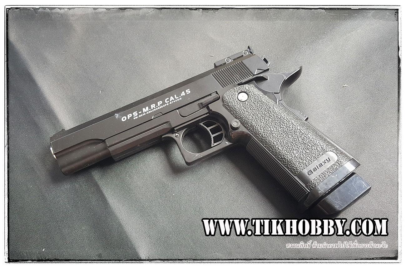 ปืนอัดลมแบบชักยิงก๊องแก๊งทีล่ะนัด C6 สีดำ งานจีนครับ