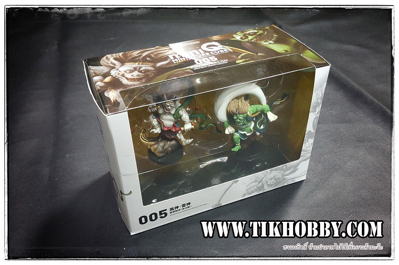 เทพเจ้าไรจินและฟูจิน (สายลมและสายฟ้า) miniQ Miniature Cube Fujin & Raijin by Kaiyodo