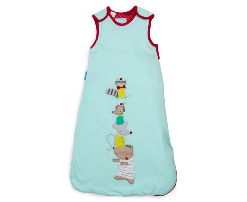 ถุงนอนเด็ก Grobag Baby Sleeping Bag 1.0 Tog, ลาย Rascal Racoon แบรนด์ดังจากอังกฤษ ขนาด 18-36 เดือน