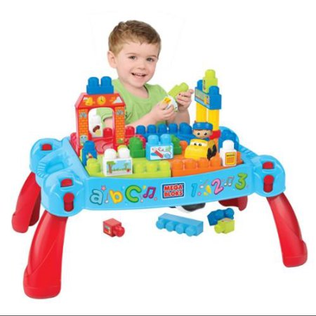 โต๊ะต่อบล๊อก Mega Bloks First Builders Build 'n Learn Table Plus Bonus Play Set