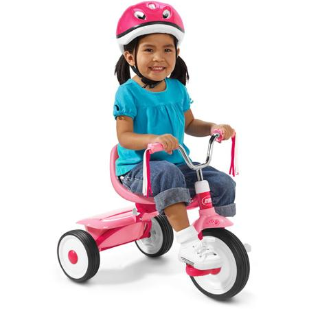 จักรยานสามล้อถีบ แบรนด์ยอดฮิต Radio Flyer Boys Fold 2 Go Tricycle สีชมพู