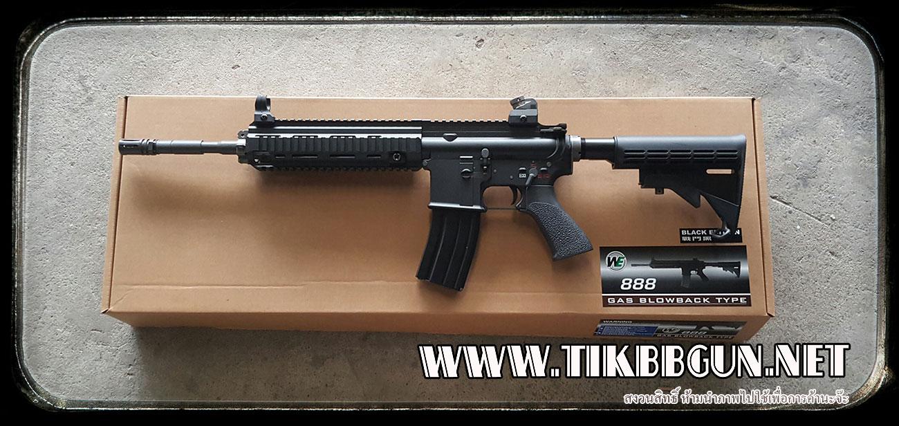 ปืนระบบแก๊สโบลว์แบ็ค HK416 WE ไม่ยิงลาย
