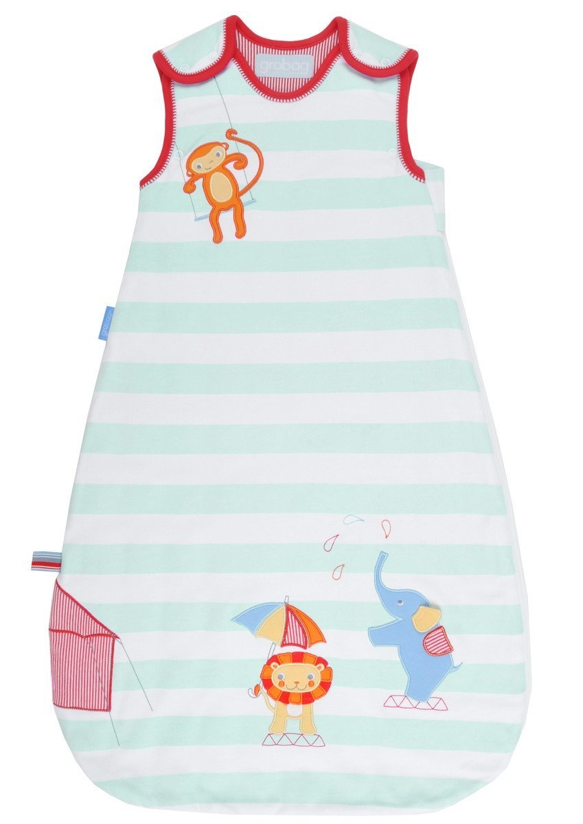 นเด็ก Grobag Baby Sleeping Bag 1.0 Tog, ลาย Sleepy Circus แบรนด์ดังจากอังกฤษ ขนาด 18-36 เดือน