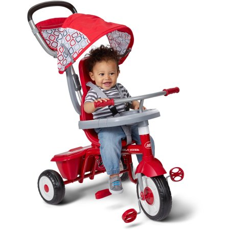 รถสามล้อ 4 in 1 แบรนด์ยอดฮิต Radio Flyer EZ Fold Stroll N Trike, Red สุดแสนคุ้มค่า