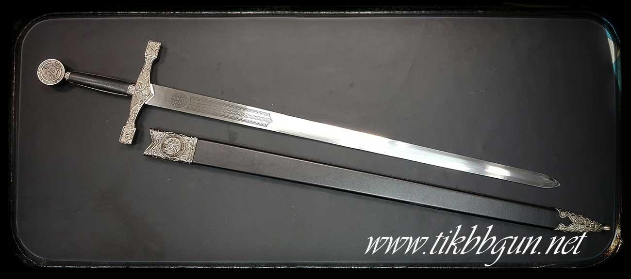 ดาบ Excalibur จาก King Arthur สีเงิน