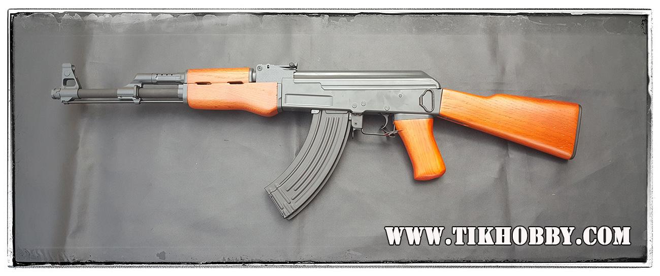 ปืนอัดลม ระบบไฟฟ้า AK CM046 ไม้แท้ๆ โบลว์แบล็ค จาก Cyma