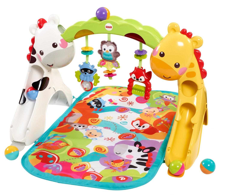 เบาะรองนอนเล่น Fisher-Price Newborn-to-Toddler Play Gym รูปแบบใหม่ ใช้ได้ตั้งแต่แรกเกิดถึงโต