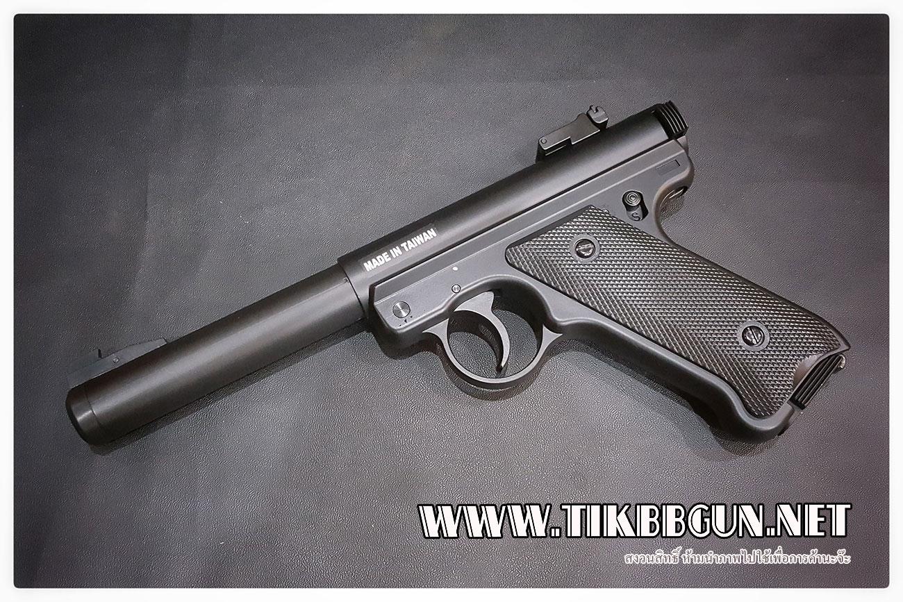 ปืนสั้น อัดแก๊สMK1 จากKj work ไม่โบลว์แบ็คนะครับ ใครอยากได้แรงๆต้องตัวนี้