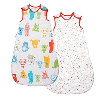 ถุงนอนเด็ก Grobag Wash & Wear Twin Pack Spotty Bear 1.0 Tog (18-36 Months) แพคคู่ สุดคุ้ม ขนาด 18-36 เดือน
