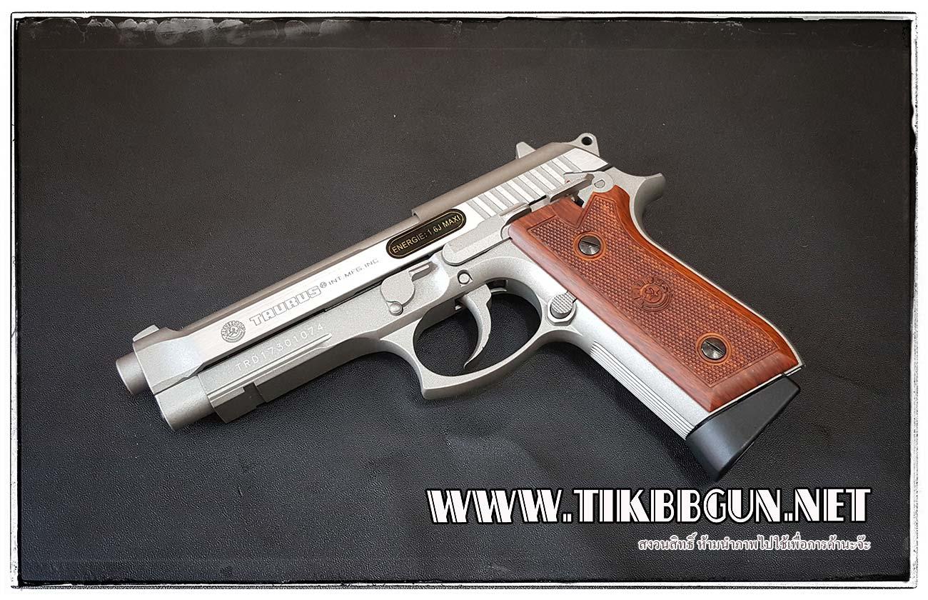 ปืนสั้นระบบแก๊สโบลว์แบล็ค รุ่น PT92 TAURUS ระบบ Co2