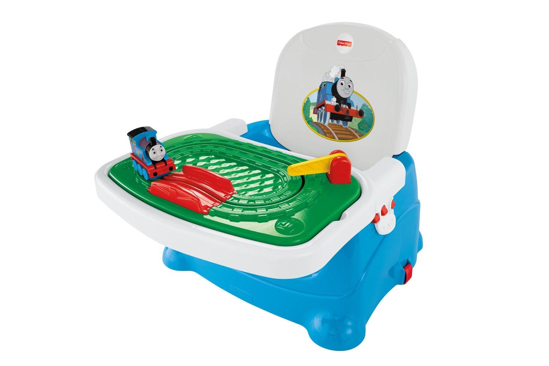 เก้าอี้เด็ก ขนาดพกพา มาพร้อมของเล่น Fisher-Price Thomas the Train: Thomas Tray Play Booster