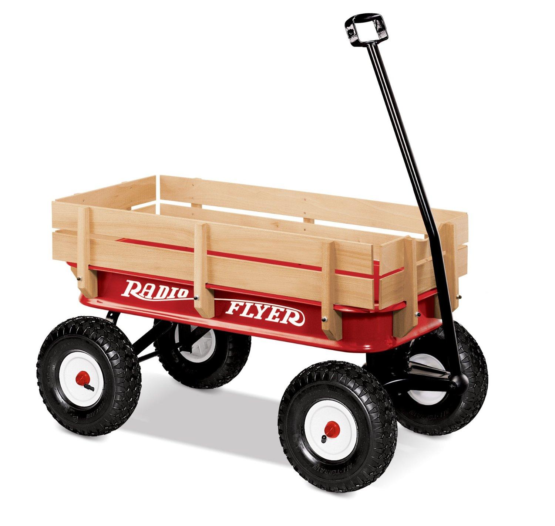 รถเข็นวาก้อน สี่ล้อ Radio Flyer All-Terrain Steel and Wood Wagon แข็งเเรง บึกบึน อัดเเน่นคุณภาพ