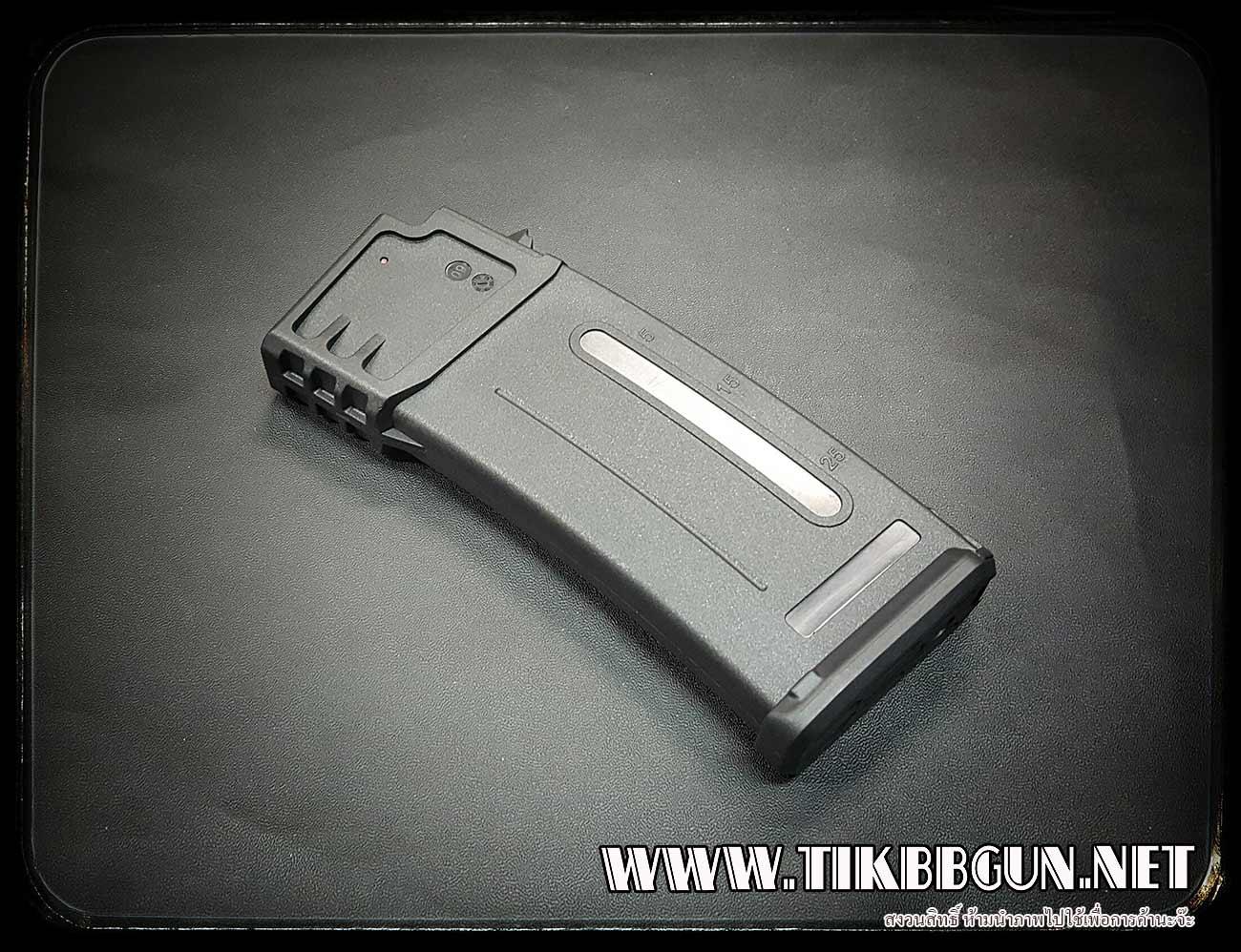 P แม๊กสำหรับปืนไฟฟ้า G36 แบบดึงสลิง สีดำ