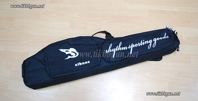 กระเป๋าปืนแบบผ้า 2 ด้าน สำหรับ M4 ปลาโลมา สีดำ