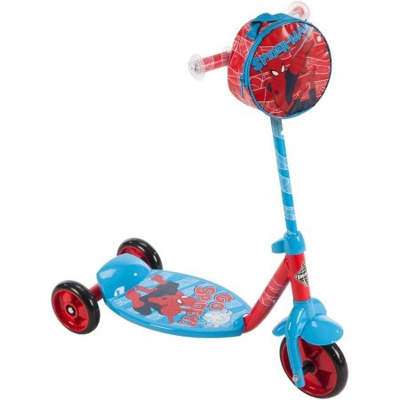 สกูเตอร์ สไปเดอร์แมน Huffy Marvel Ultimate Spider-Man Boys' 3-Wheel Preschool Scooter