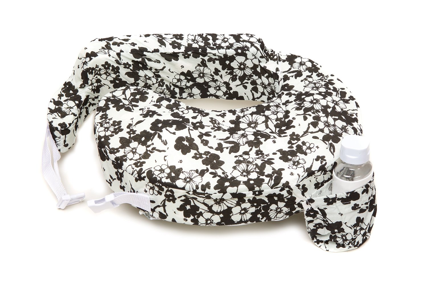 หมอนรองให้นม My Brest Friend Nursing Pillow รุ่น Original ลาย Evening Bloom, White, Black
