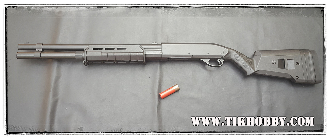 ปืนลูกซอง ปืนอัดลมชักสปริง CM355L ลำกล้องยาว MagPul สีดำ