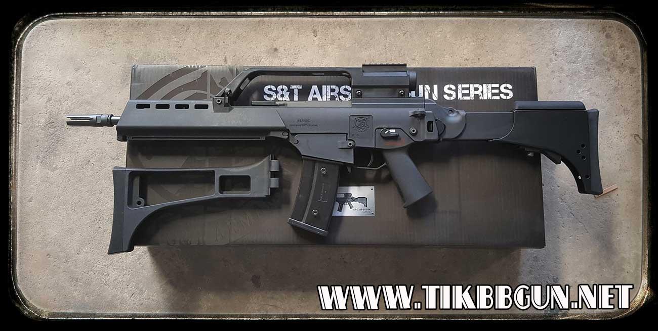 ปืนอัดลมไฟฟ้า G36K จาก S and T (แถมพานท้าย)