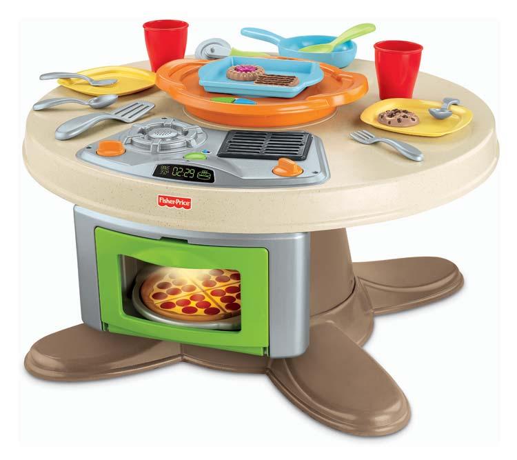 โต๊ะครัวเสมือนจริง Fisher-Price Servin' Surprises Kitchen & Table เสริมสร้างจินตนาการให้เชฟตัวน้อย เล่นได้ทั้งชาย หญิง