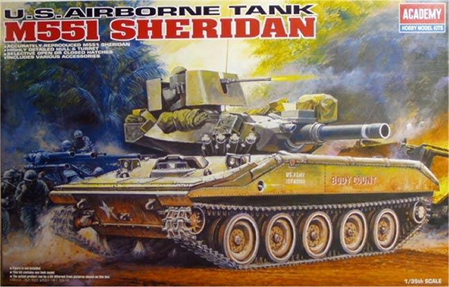รถถัง M551 SHERIDAN 1/35 Academe (AC13208 )