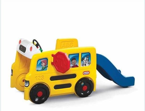รถโรงเรียน Little Tikes School Bus Activity Gym สุดคุ้มมาพร้อมสไลเดอร์ด้านหลัง