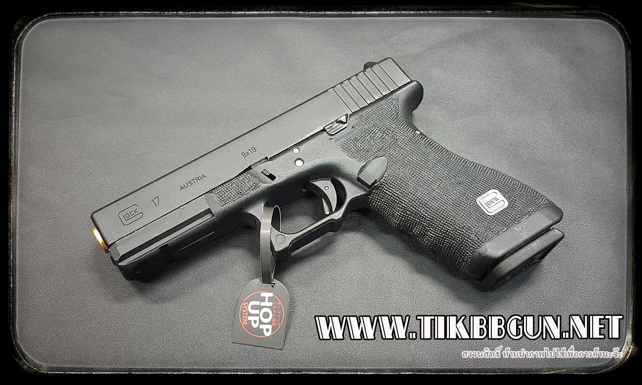 ปืนอัดลม(ปืนระบบแก๊ส) รุ่น Glock 17ท่อทอง ของ SAA(VFC) สไลด์เหล็ก มาร์คกิ้งครบ