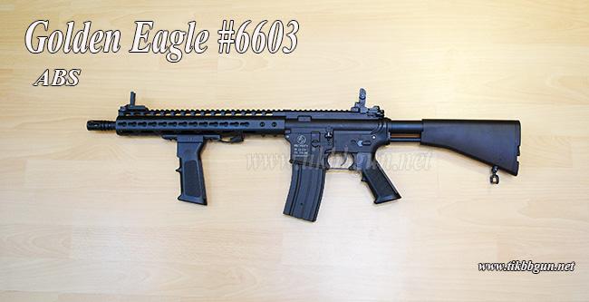 ปืนอัดลมไฟฟ้า รุ่น M4 Custom บอดี้ ABS รุ่น 6603