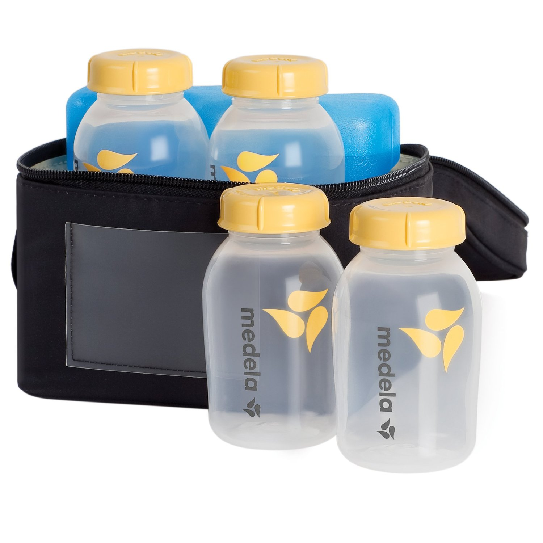 ชุดเซตกระเป๋าเก็บความเย็น Medela Breastmilk Cooler Set พร้อมเจลรักษาความเย็น และขวดนม 4 ขวด