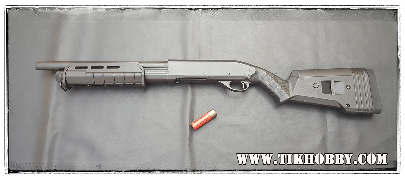 ปืนลูกซอง ปืนอัดลมชักสปริง CM355 ลำกล้องสั้น MagPul สีดำ