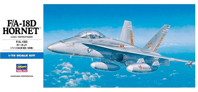 1/72 F/A-18D Hornet USMC by Hasegawa (HA00439)