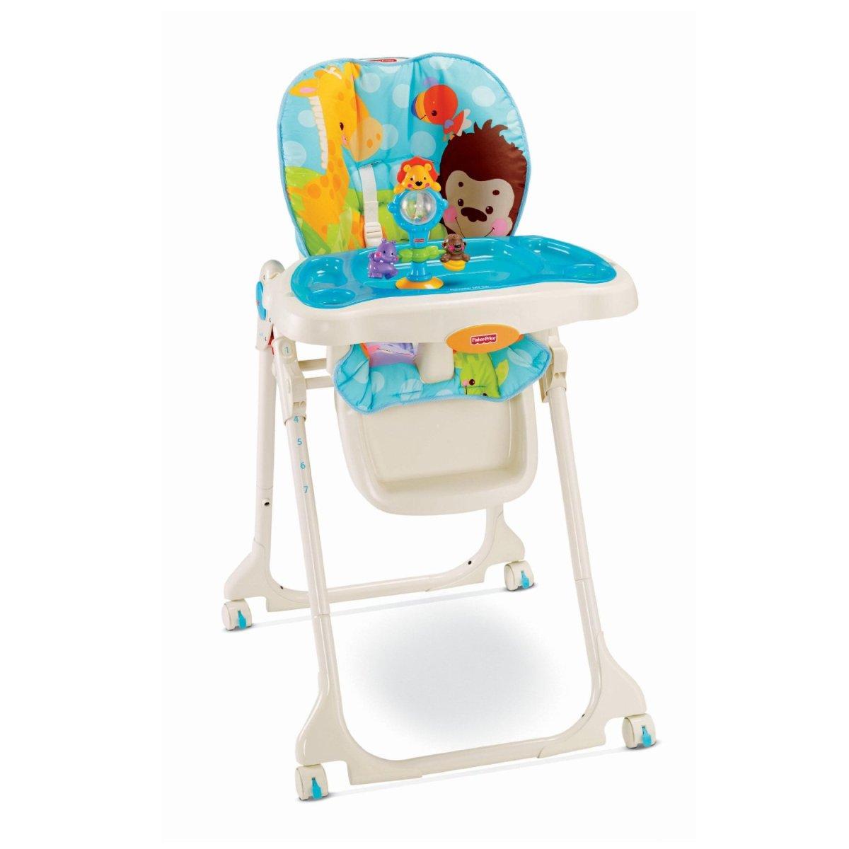 เก้าอี้ทานข้าวเด็ก Fisher Price High Chair - Precious Planet Sky Blue สีฟ้าสดใส