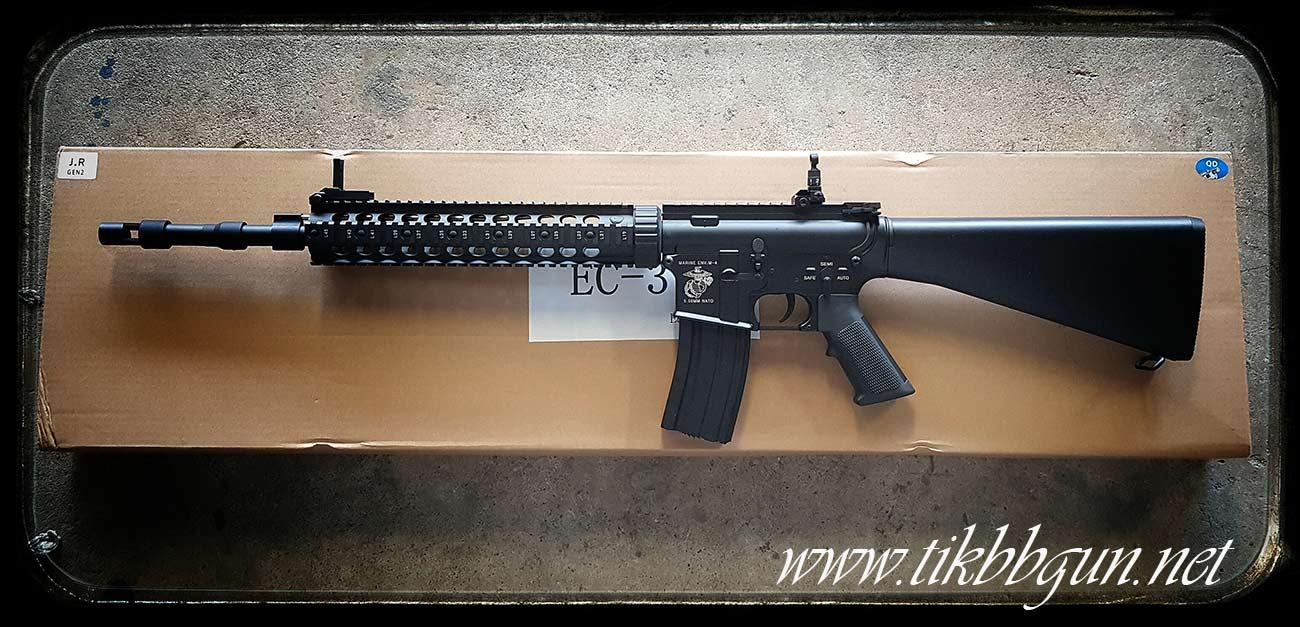 ปืนอัดลมไฟฟ้า M4 จาก E & C รุ่น 316Sท้ายเต็ม