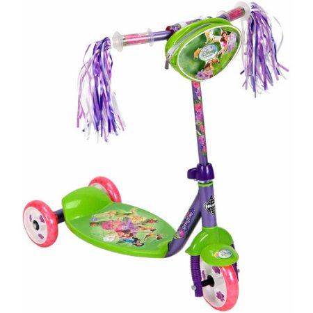 สกูเตอร์ เจ้าหญิง Disney Fairies Preschool Girls' 3-Wheel Scooter, by Huffy