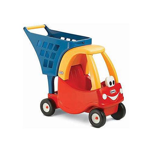 รถเข็น Little Tikes Cozy Shopping Cart สีแดง เหลือง