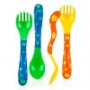 เซตช้อน ส้อม Nuby Fun Feeding Spoons & Forks 2-Pack ลายจุด สุดฮิบ